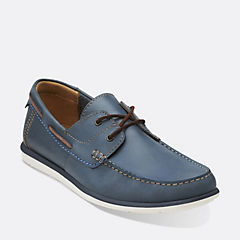 Kelan Step Navy Leather