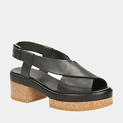 Geta Block Black Leather