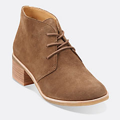 Phenia Carnaby Walnut Suede