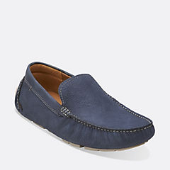 Davont Drive Blue Nubuck mens-loafer-slip-on