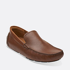 Davont Drive Tan Tumbled Leather mens-loafer-slip-on