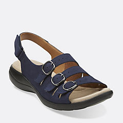 Saylie Medway Navy Nubuck womens-collection