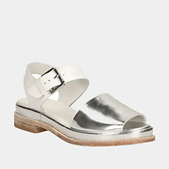 Madlen Sandal White Leather