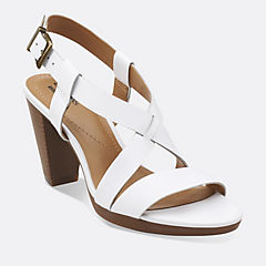 Jaelyn Fog White Leather