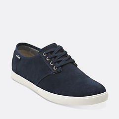 Torbay Lace Dark Navy Suede