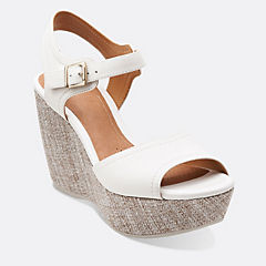 Nadene Lola White Leather