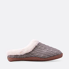Crepe Sole Clog  Grey womens-slippers