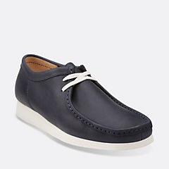 WallabeeAerial Navy Leather