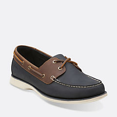 Port View Navy Combi Lea mens-collection