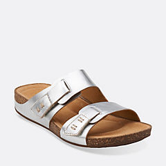 Perri Island Silver Leather