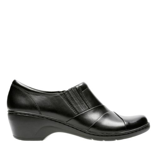 Channing Essa Black Leather womens-ortholite