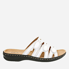 Leisa Cacti Q White Leather womens-comfort-sandals