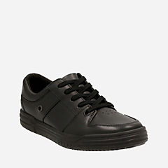 Chad Rail Youth Black Leather boys-junior