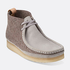 Wallabee Boot Dark Grey Felt mens-view-all