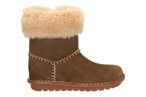 Greeta Ace Youth Walnut Suede girls-boots