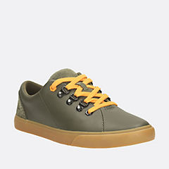 Club Hike Jnr Khaki Leather