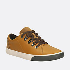 Club Hike Youth Tan Leather boys-shoes