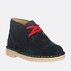 Boys Desert Boot First Blue Suede boys-walking