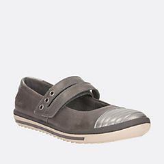 Epsie Star Youth Dark Grey Leather girls-junior