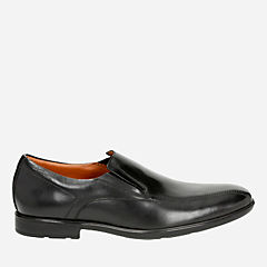 Gosworth Step Black Leather mens-dress-shoes
