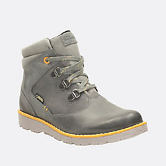 Day Hi GTX Youth Grey Leather boys-boots