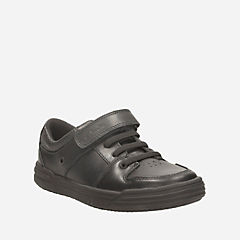 Chad Slide Toddler Black Leather boys-toddler