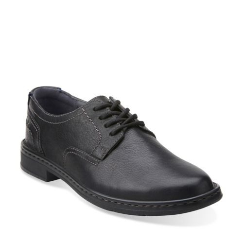 Kyros Plain Black Tumbled Leather mens-collection