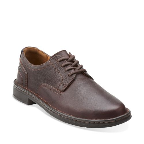 Kyros Plain Brown Tumbled Leather mens-oxfords-lace-ups