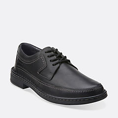 Kyros Edge Black Tumbled Leather mens-casual-shoes