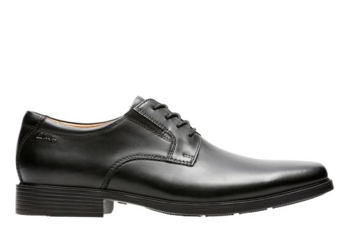 Tilden Plain Black Leather mens-collection