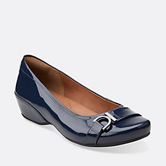 Concert Band Navy Patent Leather womens-view-all