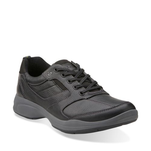 Wavekorey Fly Black Leather mens-casual-shoes