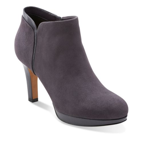 Purple Grey Bootie