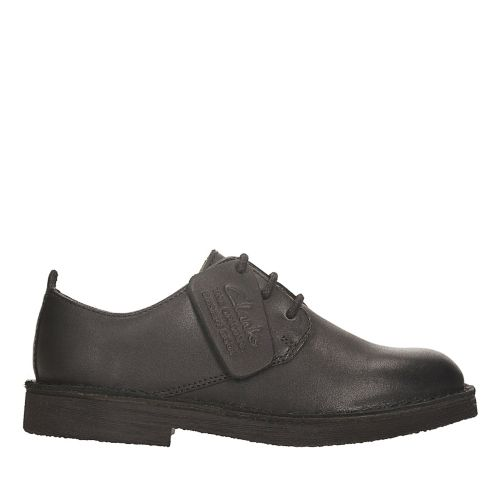 Desert London Toddler Black Leather kids-school-shoes