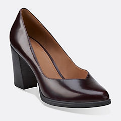 Kadri Leah Burgundy Leather