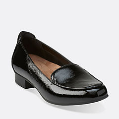 Keesha Luca Black Patent womens-wide-fit-flats