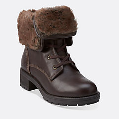 Reunite Up Gtx Dark Brown Leather womens-view-all