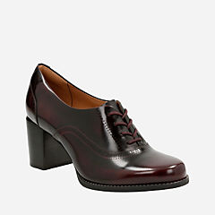 Tarah Victoria Burgundy Leather womens-heels
