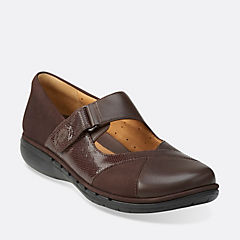 Un Swan Dark Brown Lea