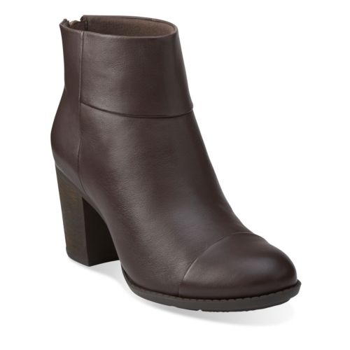 Enfield Tess Brown Smooth Leather womens-wide-width