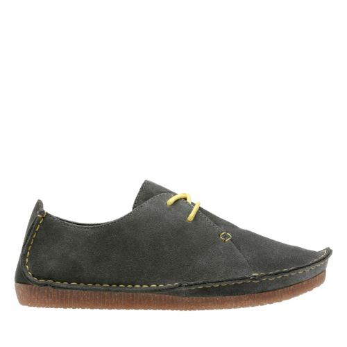 Janey Mae Dark Grey Suede womens-casual-shoes