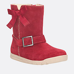 Crazy Fun First Red Suede girls-boots