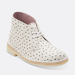 Desert Boot. Grey/White