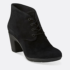 Lucette Drama Black Suede womens-view-all