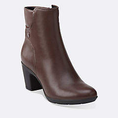 Lucette Jewel Dark Brown Lea