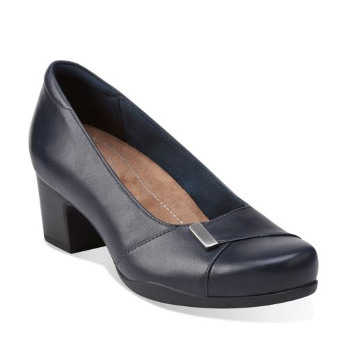 Rosalyn Belle Navy Leather womens-wide-fit-heels
