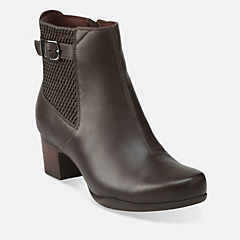 Rosalyn Lara Dark Brown Leather womens-view-all