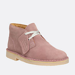 Girls Desert Boot Youth Vintage Pink Suede girls-junior
