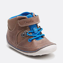 Tiny Dan Baby Grey Leather boys-pre-walker