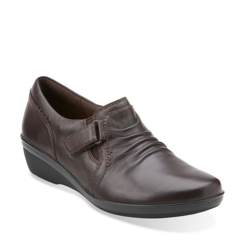 Everlay Coda Dark Brown Leather womens-wide-width